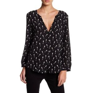Joie Purine Champagne Glass Silk Blouse